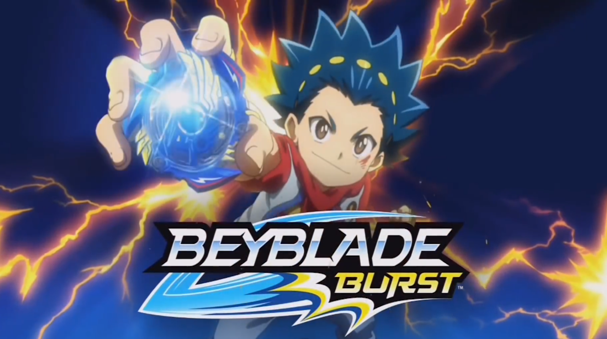 Watch the opening of Beyblade Burst with theme music by Shaun Chasin